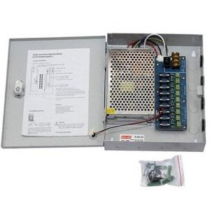 Fuente de Poder CCTV para 9 cámaras 12VDC-10A