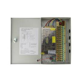 Fuente de Poder CCTV para 18 cámaras 12VDC-15A