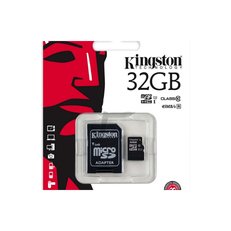 Tarjeta Memoria kingston Micro SD 32GB Clase 10