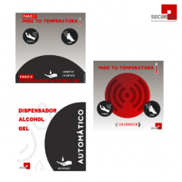 Gráfica informativa equipos de medición y dispensador automático