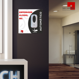 Dispensador Automático de Alcohol Gel +Gráfica informativa