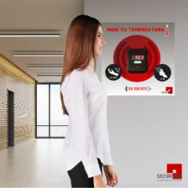 Medidor Automático de Temperatura (Pantalla Digital y Voz) + Gráfica Informativa