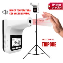 Termómetro K3 Pro Sin Contacto,  de Última Generación y Certificado (INCLUYE TRIPODE)