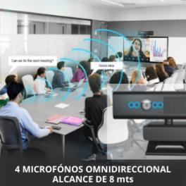 Webcam Videoconferencia Profesional Full HD 1080P, Micrófono y Altavoz Incorporado