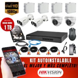 Kit 4 Cámaras  Full Hd  + Disco Duro 1 Tb (cámaras tipo bala, domo o mixtas)