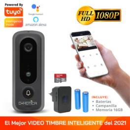 Timbre Wifi Inteligente Cámara Full Hd, Campanilla Y Memoria