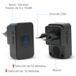Campanilla para video Timbre modelo BCM-VB08
